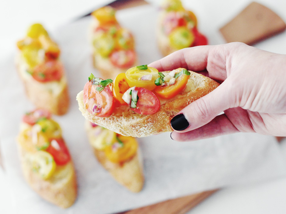 Colorful Bruschetta