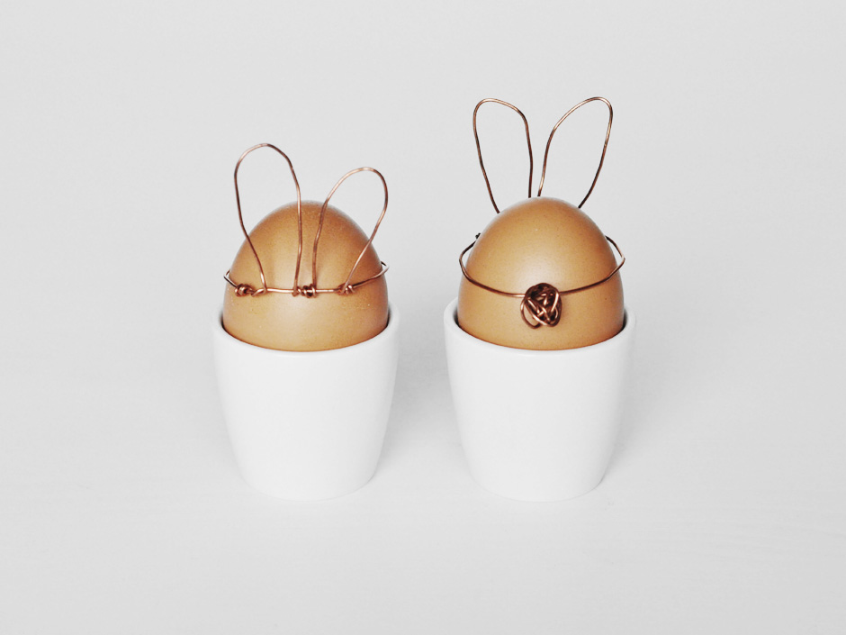 Copper Easter Bunnies