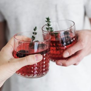 Sparkling Blackberry Cocktail