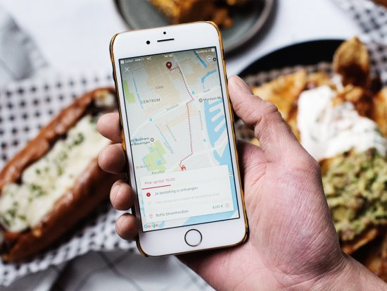 de Pick-up feature van Foodora